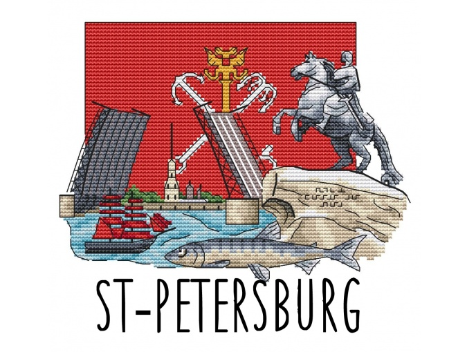 St. Petersburg Cross Stitch Pattern фото 1