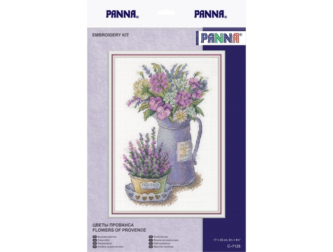 Flowers of Provence Cross Stitch Kit фото 2