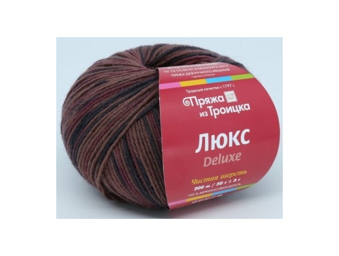 Troitsk Wool De Lux Print, 100% Merino Wool 10 Skein Value Pack, 500g фото 10