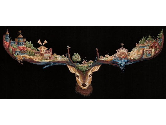 Reindeer Land Cross Stitch Kit фото 1