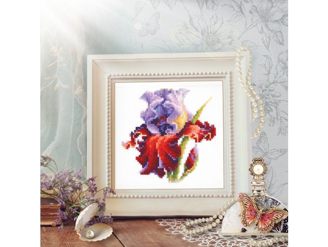 Purple Iris Cross Stitch Kit фото 4