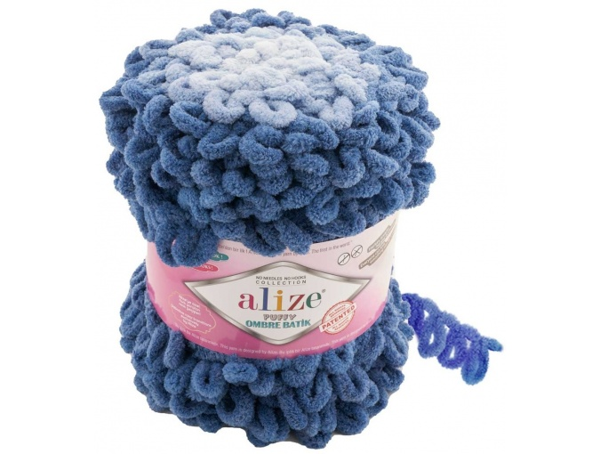 Alize Puffy Ombre Batik, 100% Micropolyester 1 Skein Value Pack, 600g фото 11
