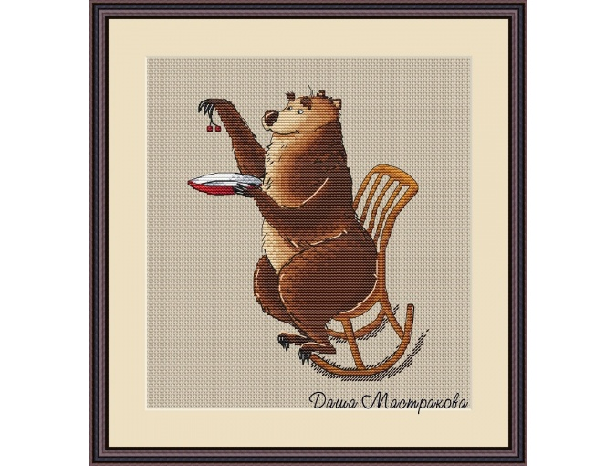 Sweet-tooth Bear Cross Stitch Pattern фото 2