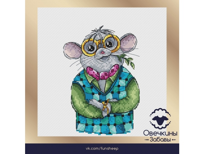 Monsieur Rat Cross Stitch Pattern фото 1