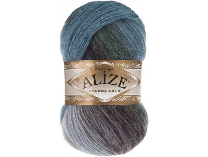 Alize Angora Gold Batik, 10% mohair, 10% wool, 80% acrylic 5 Skein Value Pack, 500g фото 24