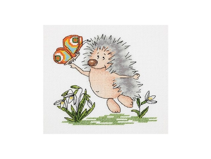 Spring Hedgehog Cross Stitch Kit фото 1