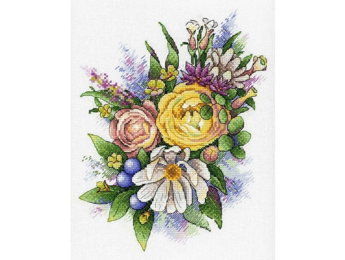 Spring Melody of Flowers Cross Stitch Kit фото 1