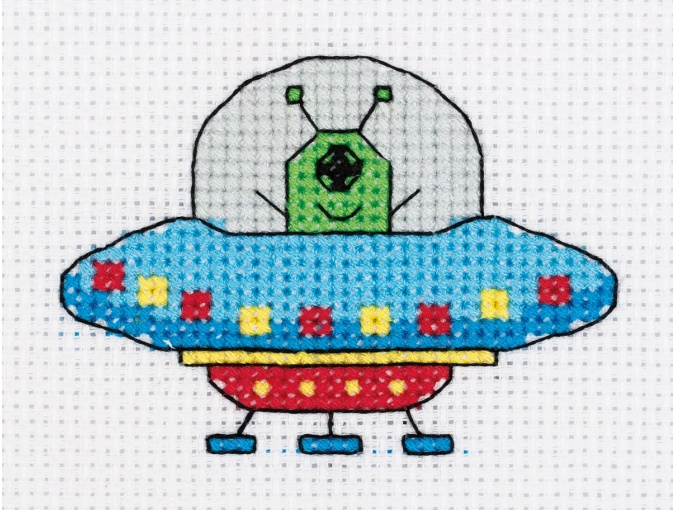 UFO Cross Stitch Kit фото 1