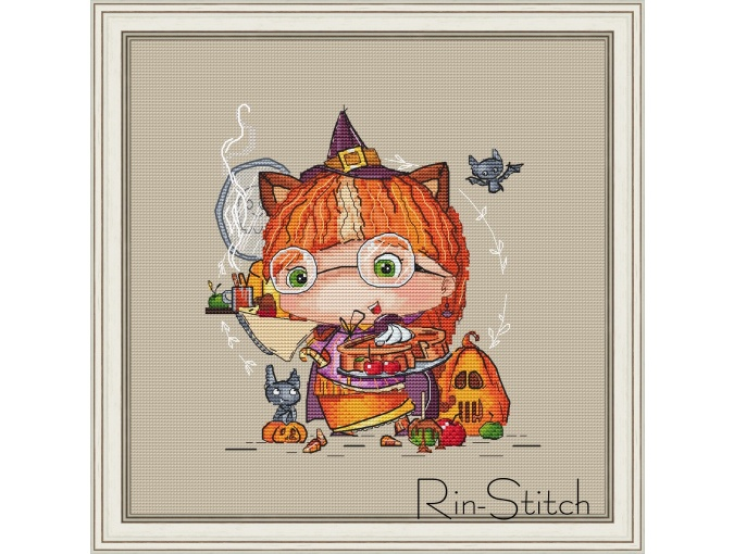 Happy Halloween Cross Stitch Chart фото 1