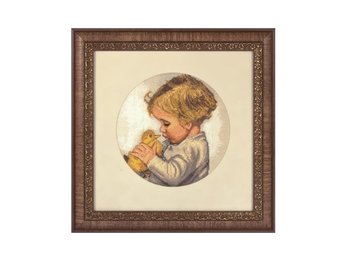 Boy with Duckling Cross Stitch Kit фото 2