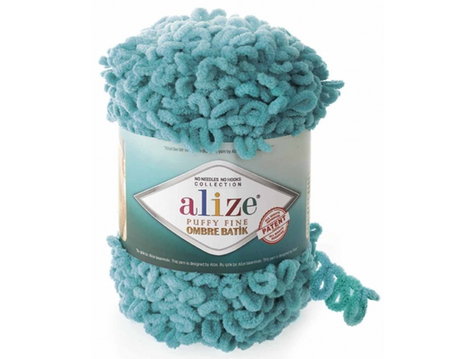 Alize Puffy Fine Ombre Batik, 100% Micropolyester 1 Skein Value Pack, 500g фото 2