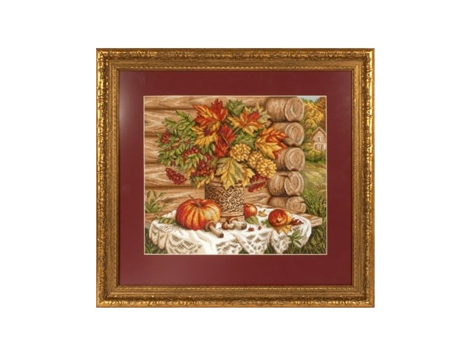 Autumn Still Life with Pumpkins Cross Stitch Kit фото 2