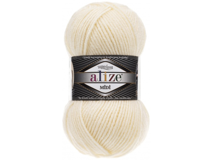 Alize Superlana Midi 25% Wool, 75% Acrylic, 5 Skein Value Pack, 500g фото 2