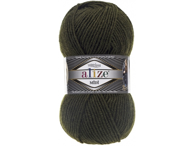 Alize Superlana Midi 25% Wool, 75% Acrylic, 5 Skein Value Pack, 500g фото 27