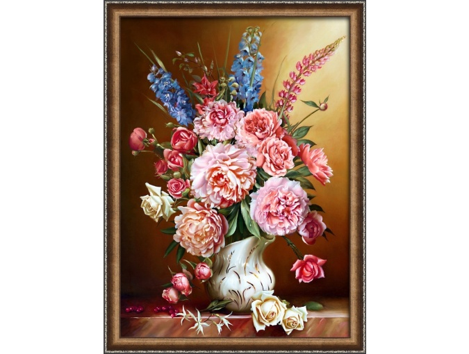 Peonies with Lupins Diamond Painting Kit фото 1