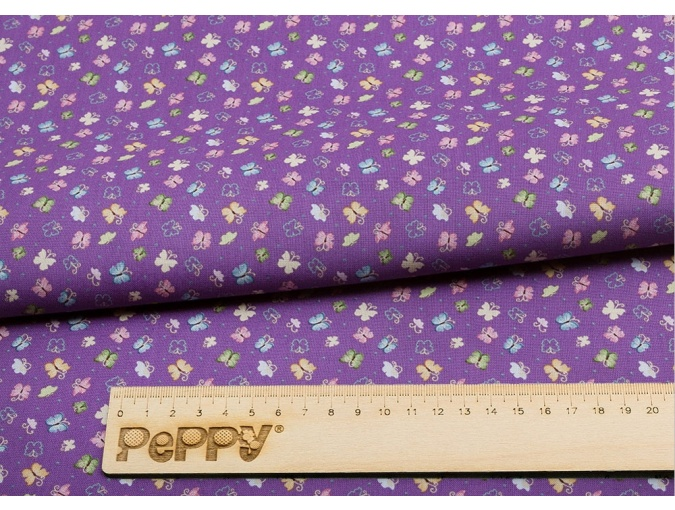 Fat Quarter Peppy, print Violet with Butterflies фото 2