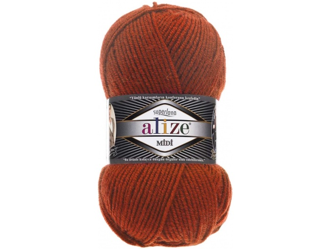 Alize Superlana Midi 25% Wool, 75% Acrylic, 5 Skein Value Pack, 500g фото 7