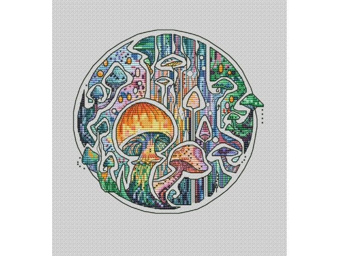 Mushrooms Cross Stitch Pattern фото 1