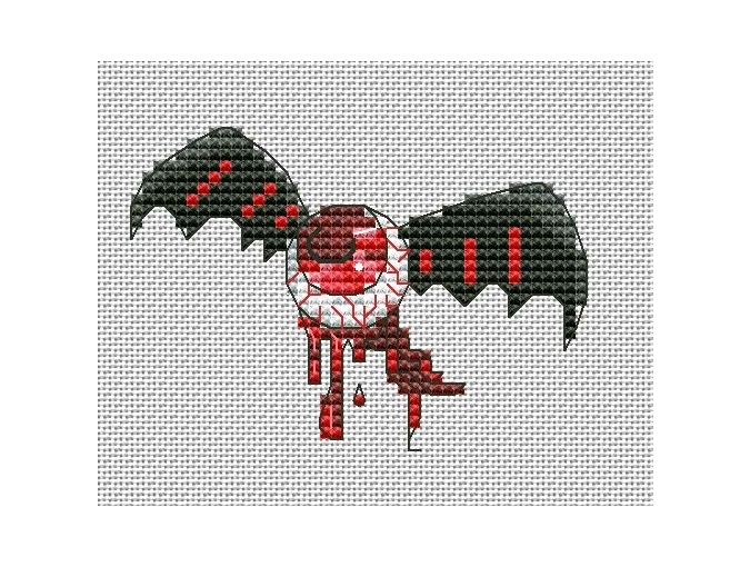 An Eye Cross Stitch Pattern фото 1