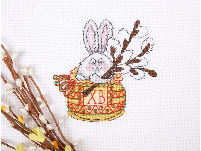 Bunny with a Willow Twig Cross Stitch Kit фото 3