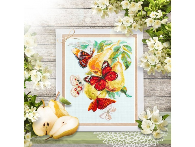 Butterflies and Pears Cross Stitch Kit фото 4