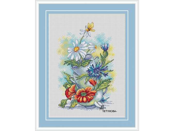 Summer in the Cup Cross Stitch Pattern фото 1