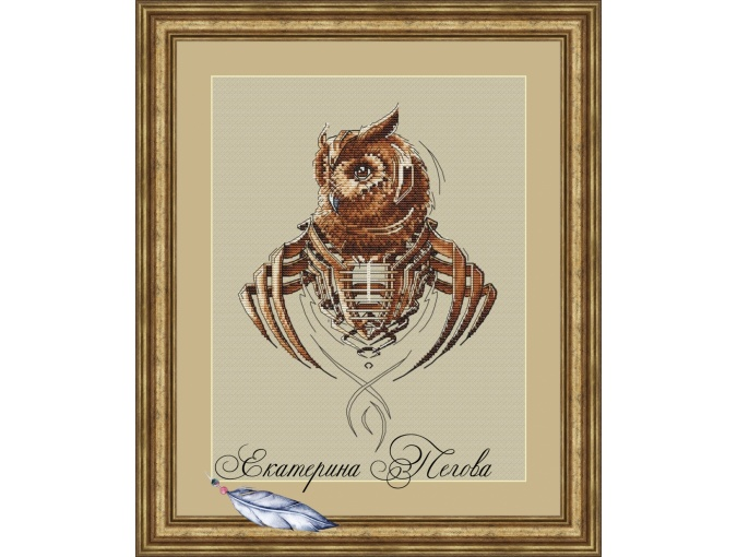 Mechanical Owl Cross Stitch Pattern фото 1