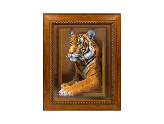 Regal Tiger Cross Stitch Kit фото 2