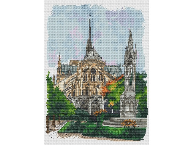 Notre Dame Cathedral Cross Stitch Pattern фото 1
