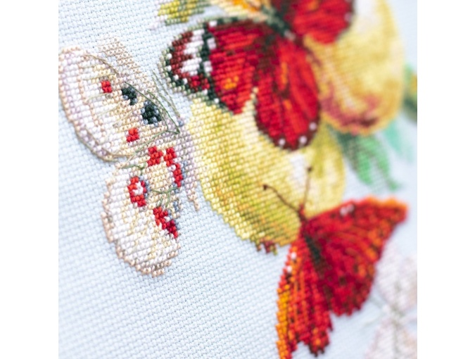Butterflies and Pears Cross Stitch Kit фото 8