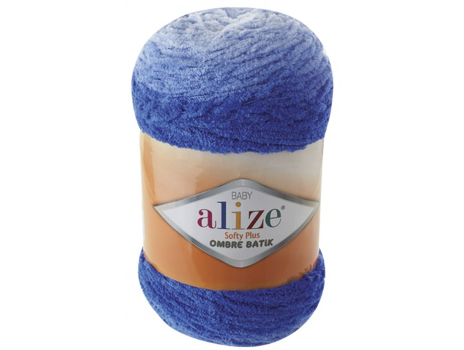 Alize Softy Plus Ombre Batik, 100% Micropolyester 1 Skein Value Pack, 500g фото 3