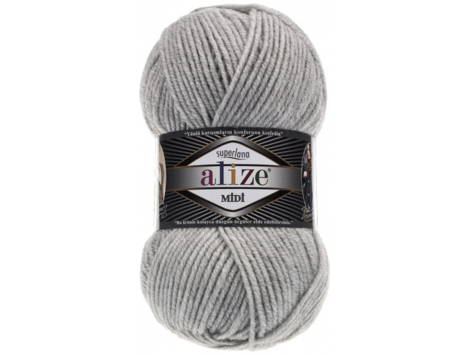 Alize Superlana Midi 25% Wool, 75% Acrylic, 5 Skein Value Pack, 500g фото 23
