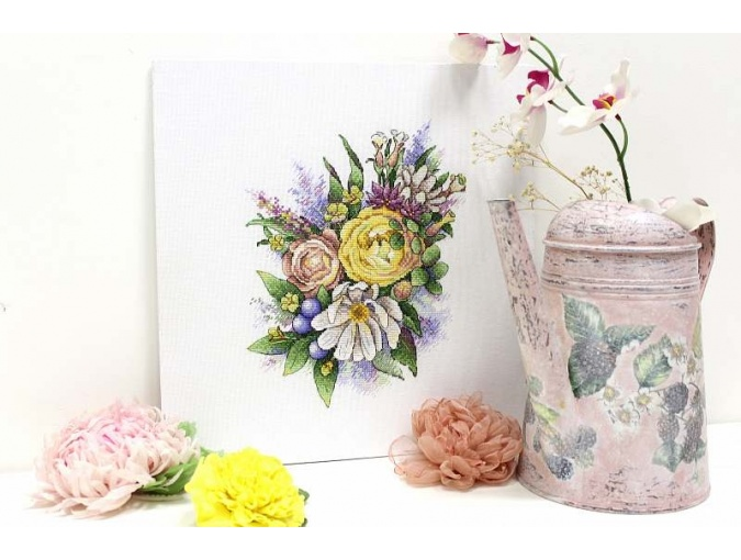 Spring Melody of Flowers Cross Stitch Kit фото 2