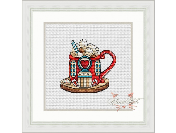 Cocoa House Cross Stitch Pattern фото 1
