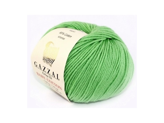 Gazzal Baby Cotton, 60% Cotton, 40% Acrylic 10 Skein Value Pack, 500g фото 114