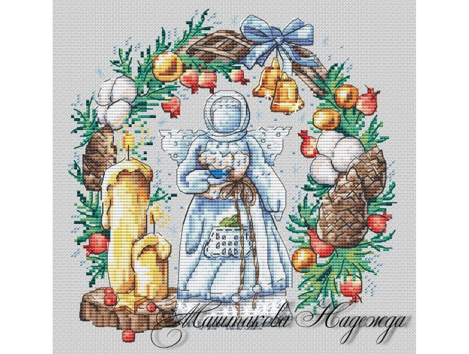 Angel of Light Holiday Cross Stitch Pattern фото 1