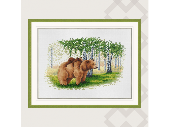 Bear Family Cross Stitch Pattern фото 2