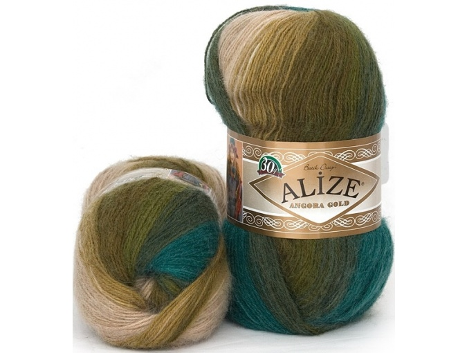 Alize Angora Gold Batik, 10% mohair, 10% wool, 80% acrylic 5 Skein Value Pack, 500g фото 34
