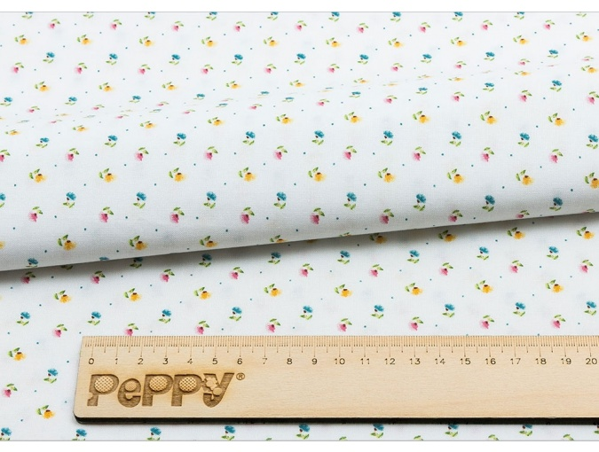 Fat Quarter Peppy, print White with Small Flowers фото 2