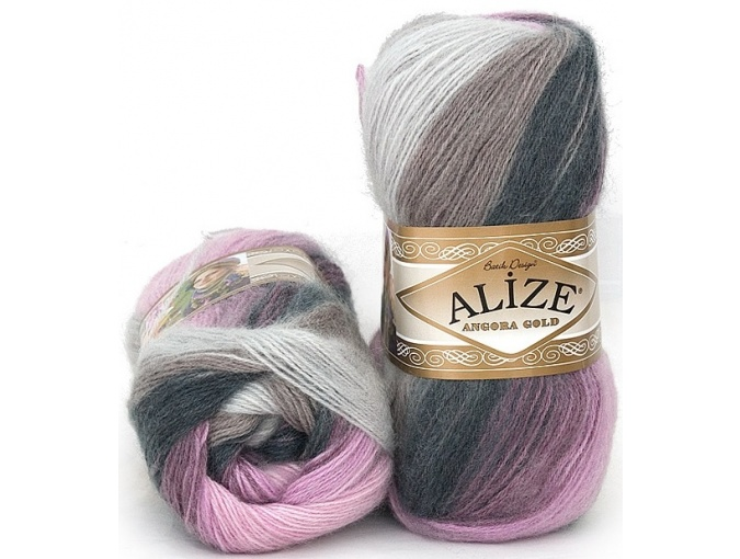 Alize Angora Gold Batik, 10% mohair, 10% wool, 80% acrylic 5 Skein Value Pack, 500g фото 40