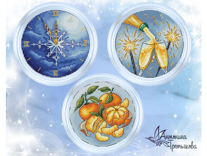 New Year's Symbols Set Cross Stitch Pattern фото 1
