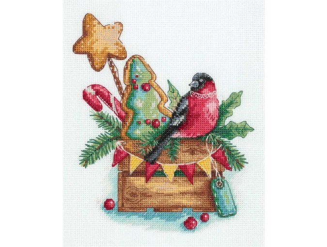 Bullfinch with Sweets Cross Stitch Kit фото 1