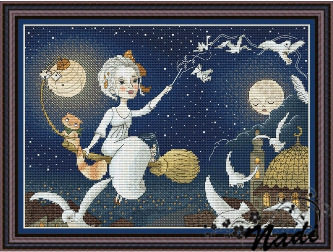 Night Fairy Cross Stitch Pattern фото 1