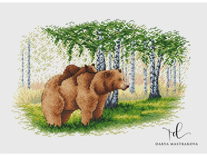 Bear Family Cross Stitch Pattern фото 1