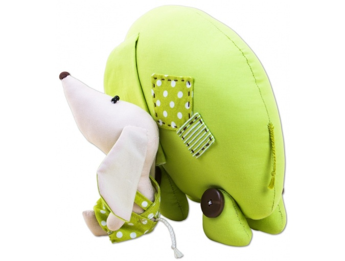 Elephant and Puppy Toy Sewing Kit фото 2