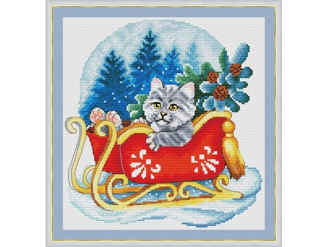 On Sleds Cross Stitch Pattern фото 1