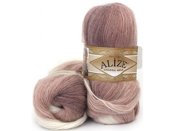 Alize Angora Gold Batik, 10% mohair, 10% wool, 80% acrylic 5 Skein Value Pack, 500g фото 46