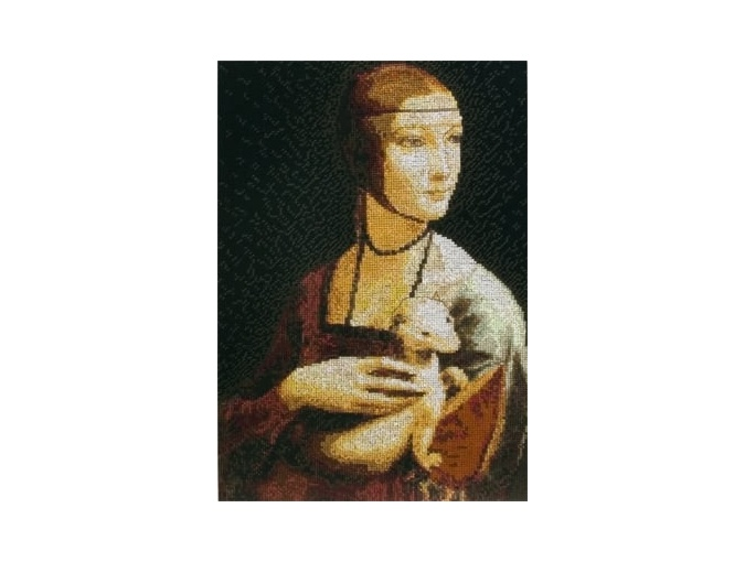 Lady with an Ermine Cross Stitch Kit фото 1