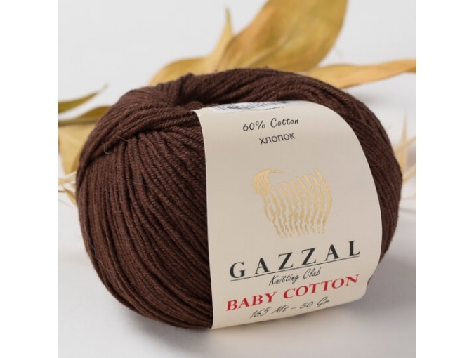Gazzal Baby Cotton, 60% Cotton, 40% Acrylic 10 Skein Value Pack, 500g фото 54