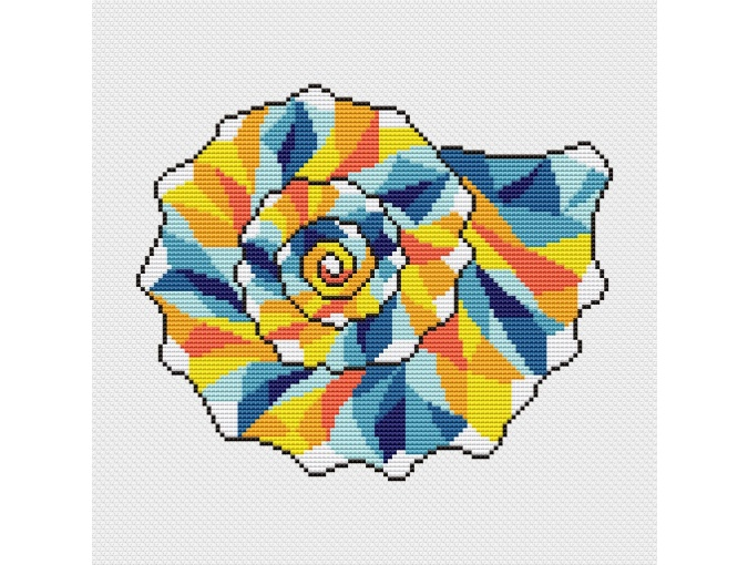 Wild Knobbed Whelks Cross Stitch Pattern фото 1